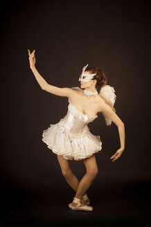 Young ballerina in angel costume and mask - FBF000370