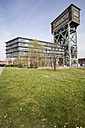 Germany, North Rhine-Westphalia, Dortmund, Eving,Industrial Park, former Coal Mine Minister Stein, Hammerkopf Tower and office building - WI000607