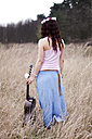 Germany, Young woman with guitar - AFF000053