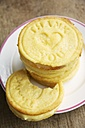 Stack of lemon cookies that say thank you - HAWF000119