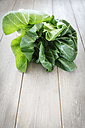 Chinese cabbage on wooden table - EVGF000534