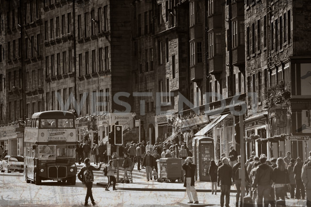 UK, Scotland, Edinburgh, Pedestrians in street - FD000036