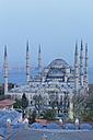 Turkey, Istanbul, Blue Mosque at dusk - SIE005298