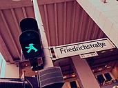 green traffic light man, Berlin, Friedrichstrasse, Germany - RIMF000229