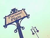 Sign Pariser Platz, Berlin, Germany - RIMF000239
