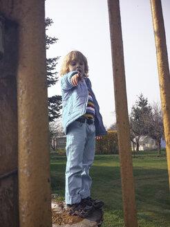 Boy, child, playground, Saxony, Germany - MJF001017