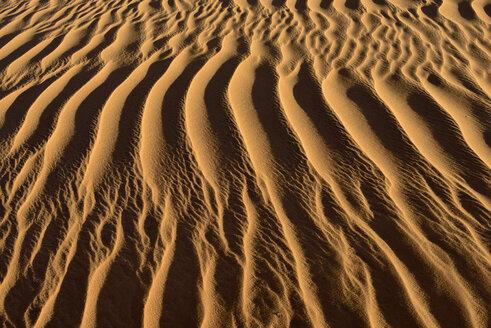 Algeria, Tassili n Ajjer, Sahara, sand ripples on a desert dune - ESF001022