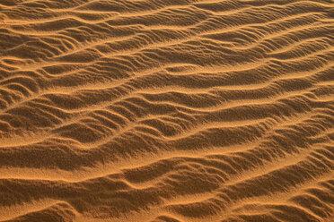 Algeria, Tassili n Ajjer, Sahara, sand ripples on a desert dune - ESF001019