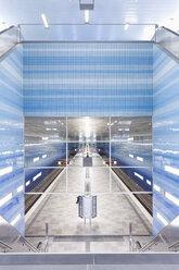 Germany, Hamburg, Underground station Hafencity Universitaet - MS003814