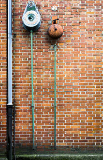 Alarm system in front of facade of an old factory - FCF000113