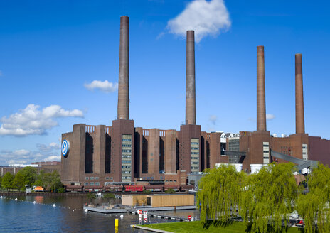Germany, Lower Saxony, Wolsburg, Old combined heat and power station, Volkswagen factory - KLR000029