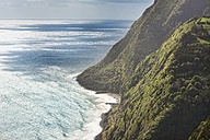 Portugal, Azores, Sao Miguel, Cliff line at Nordeste - ONF000508