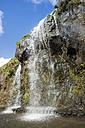 Portugal, Azores, Sao Miguel, Waterfall at Parque Natural da Ribeira dos Caleiroes - ONF000514