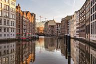 Germany, Hamburg, Nikolaifleet at sunset - RJF000115