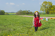 Little girl standing on a meadow - MJF001127