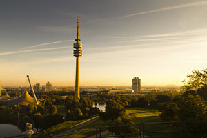 Germany, Munich, Olympic Tower in morning light - FCF000160