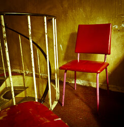 Chair in a run down building - FC000163