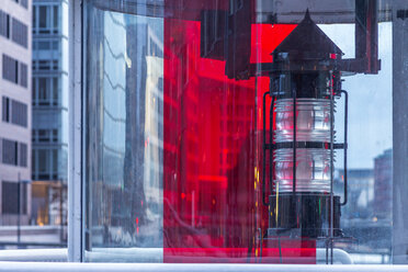 Germany, Hamburg, Hafencity, Historic beacon - NKF000097