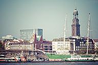 Germany, Hamburg, Port of Hamburg, St. Michaelis Church, Rickmer Rickmers in the foreground - KRPF000491