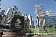 China, Hong Kong, skyscrapers and a fountain in downtown, Central - SH001249