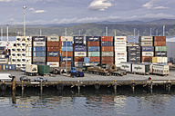 New Zealand, Wellington, view to container harbour - STD000040