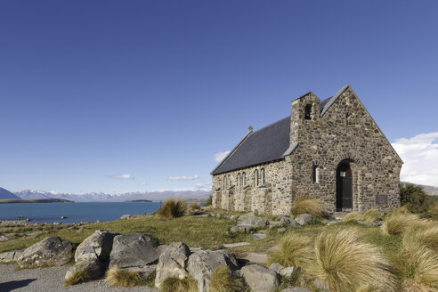New Zealand, chapel in front of Lake Tekapo - STDF000052