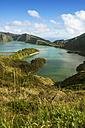 Portugal, Azores, Sao Miguel, Crater lake Lago di Fogo - ONF000535