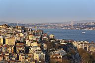 Turkey, Istanbul, View to Beyoglu and Bosphorus Bridge - SIEF005373