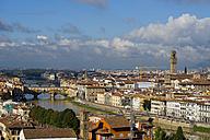 Italy, Tuscany, Florence, Cityscape, Ponte Vecchio - KLRF000061