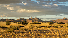 Africa, Namibia, Sossus Vlei, view to landscape with mountains in the background - HLF000489