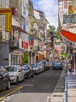 Caribbean, Antilles, Lesser Antilles, Martinique, Fort-de-France, Rue Garnier Pages, Shopping street - AMF002207