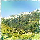 View of the valley, Chiesa Valmalenco, Lombardy, Italy - DWIF000066