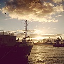 Germany, Hamburg, ships on the Elbe - MMO000001