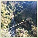 Nepal, Langtang region, Suspension Bridge over river - MMO000265