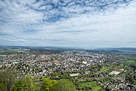 Germany, Baden-Wuerttemberg, Constance district, View from Hohentwiel to Singen - ELF000964