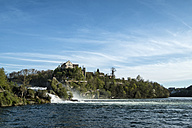 Switzerland, Schaffhausen, Rhine falls with Laufen Castle - ELF000973