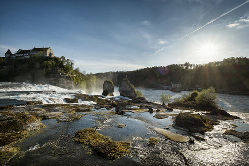 Switzerland, Schaffhausen, Rhine falls with Laufen Castle - ELF000976