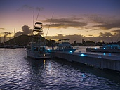 Caribbean, Lesser Antilles, Saint Lucia, Rodney Bay, Marina in the evening - AM002231
