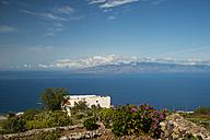Spain, Canary Islands, Tenerife, Chirche, View to La Gomera - WGF000285