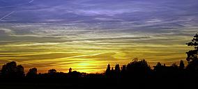 Germany, North Rhine-Westphalia, Minden, Sunset - HOHF000795