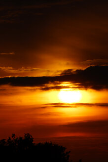 Germany, North Rhine-Westphalia, Minden, Sunset - HOHF000798