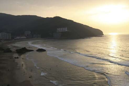 Spain, Bilbao, Beach, Sunset - MKLF000030