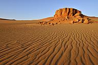 Africa, Algeria, Sahara, Tassili N'Ajjer National Park, Tadrart, Sandstone formation - ES001118