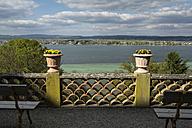 Switzerland, Thurgau, Salenstein, view from Arenenberg Castle to Reichenau Island at Lake Constance - ELF001001