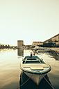 Croatia, Peljesac peninsula, Mali Ston, Boat in fishing harbor - MEMF000008
