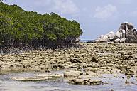 Indonesia, Riau Islands, Bintan, Nikoi Island, Grnaite rocks at beach - THAF000367