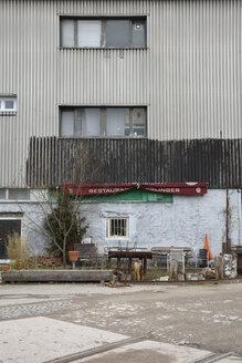 Germany, Bavaria, Munich, Run down restaurant at the Kultfabrik - AX000674