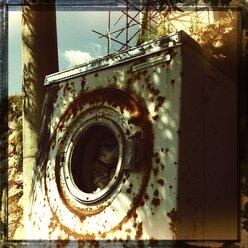 Italy, Campania, Amalfi Coast, Rusted Machine - STE000077