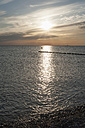 Germany, Mecklenburg-Western Pomerania, Ruegen, Dranske, Baltic Sea at sunset - MJF001262