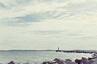 Germany, Mecklenburg-Western Pomerania, Ruegen, Sassnitz, Harbor with lighthouse - MJF001248